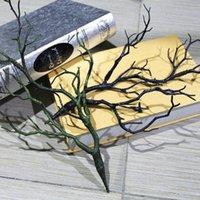 2020 همية الخضرة الأغصان الصغيرة الطبيعي الجاف PVC مانزانيتا المجفف فروع الاصطناعي شجرة نبات أخضر أسود فرع للديكور الزفاف 35CM LX241