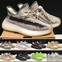 Adidas Yeezy Boost 350 V2 Kanye West Crianças Sapatos Zyon Static Refletivo Meninos Meninas Tênis de corrida Israfil Cloud White Yecheil Infantil Tênis Tamanho 24-35