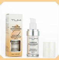 TLM Farbwechsel flüssige Grundlage 30ML Makeup Änderung Ihrer Hautton von Just Blending Feuchtigkeitsspendende Long Lasting Make-up-Stiftung