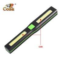 COBA أدى worklight البلاستيك قطعة خبز المغناطيسي مصباح العمل 4 وسائط استخدام ماء 3 بطارية * ضوء المحمولة البحث ضوء الصمام