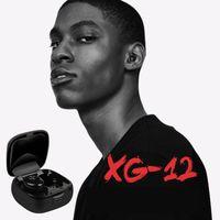 Tüm Phone için mikrofonlu XG12 TWS Bluetooth 5.0 Kulaklık Stereo Kablosuz Earbus A6s Tomurcuklar Hifi Ses Sport Kulaklık Eller serbest Oyun Kulaklığı