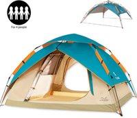 Палатки и укрытия ZoMake Автомат для кемпинга для кемпинга 2 3 человека - 4 сезона Рюкзак портативный купол быстро
