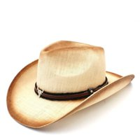 2020 Women Men Straw Sun Hat With Bull Head Band For Lady Dad Sun Sombrero HombreWestern Cowboy Jazz Caps