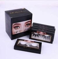 25MM Lashes dramtic 6D 100% Mink cheveux Faux cils Wispies Fluffy bandes longs cils pleine main Extension Eye Drop Ship epack