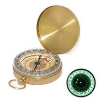 Reines Kupfer Clamshell-Kompass mit Leucht Taschenuhr Kompass tragbaren Outdoor Multifunktions-Metall-Messlineal Werkzeug