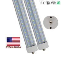T8 8ft LED Tubes Light Single Pin FA8 8ft LED Bulbs 45W 120W V Shaped LED Light Tubes AC 85-265V + Stock In USA