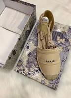 scarpe pescatore donna di lusso scarpa Corda della canapa erba alfabeto di modo casuale Sandali estate piattaforma progettista tessuto Baotou sandali formato 35-42