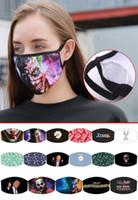 Trend-stampato lavabile riutilizzabile Maschera Viso Shield Trump Strano gomito Viso Mount copertura maschere antipolvere Bocca mascherina del partito ePacket