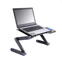 Laptop Schreibtisch Aluminiumlegierung Bett Klapptisch Desktop Computerständer Hubhalter Computer Zubehör Versandkostenfrei