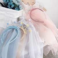 Saç Aksesuarları 2021 Basit Sevimli Tatlı Prenses Rhinestone Taç Doğum Günü Peçe Kız Moda Için Yüzen İplik Hoop