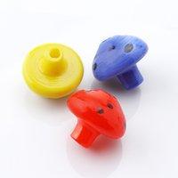도매! Mushroon 유리 수화물은 석영 폭행 손톱 유리 물 기억 만 굴착를 들어 30mmOD 노란색 빨간색 파란색 유리 버블 캡 무모한 수화물 캡 모자