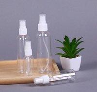 Şeffaf Plastik Sprey Şişe Atomizer Uçucu Yağlar Seyahat Parfüm Dökme Taşınabilir Makyaj 15ML 30ML 50ML 60ML 100ML LJJA1450 için pompaları