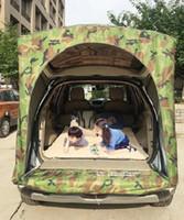 خيمة السيارات على الطرق السيارة رحلة المحمولة تمديد التخييم في الهواء الطلق خيمة النوم في الهواء الطلق التخييم الخيام خيام للعائلات IZMm #