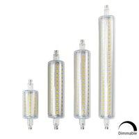R7S LED لمبة J78 J118 عكس الضوء لمبات مصباح الذرة 78MM 118mm 135MM 189mm استبدال ضوء الهالوجين 25W 150W 500W 220V 110V Lampada