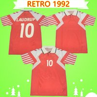 1992 Dinamarca Dinamarca Retro Jerseys Home Vermelho Vintage Camisas Futebol Clássico Elstrup Laudrup Frank Laudrup Povlsen Qualidade Tailandesa