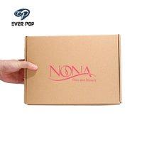 Envoltório de presente 100 pçs / lote personalizado de alta qualidade papelão corrugado caixa de maicer caixa caixas roupas kraft design de impressão