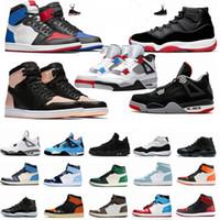 Hommes 1 1s Travis Scotts sans Peur Bred 11 11s Concord 45 Space Jam Hommes Chaussures de basket de ciment blanc 4 4s Qu'est-ce que la chaussure Femmes Sport
