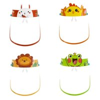 DHL Shipping Cartoon Anti-fog Safety Child Face Shield With Glasses Transparent Anti-spitting Splash Reusable Protective Face Mask X434FZ