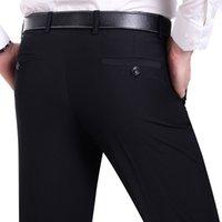 Suit pantaloni vestito Moda uomo pantaloni sociale Mens abito formale nero Suit Pants Affari Maschio abito da sposa casuale degli uomini Trouse CX200728