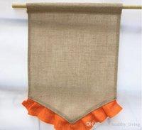 Bandiere CALDO colorato increspatura della tela da giardino 31 * 46 centimetri fai da te iuta Liene Yard Bandiera decorazione della casa Hanging bandierina di trasporto del DHL 025