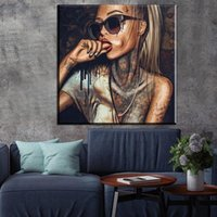Abstract African Women Portrait Poster Prints Graffiti Stree...