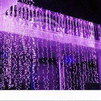 Curtain Luci di Natale 10 * 10 * 3m 4m 10 * 5m LED di scintillio di illuminazione di Natale leggiadramente della stringa di nozze curtain background Strisce di festa di Natale