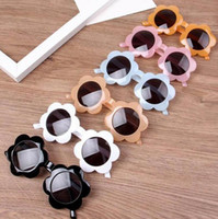 Crianças óculos de sol girassol quadro meninas óculos menino bebé sol óculos crianças praia óculos moda acetato crianças acessórios lsk426