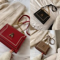 Women's 2020 new fashion small ck square bee simple crossbody bagshoulder Bag shoulder bagchain bag