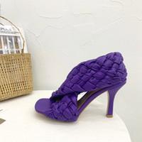 diapositives Designer de femme luxe de haute couture talons BOARD de SANDLAS nouvelles sandales de marque femmes luxe chaussures partie talons Weave