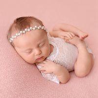 Bebê recém-nascido Lace Baby Girl Romper macacãozinho petti infantil bonito da criança Foto roupa suave Lace Bodysuits Diamante hairband HHA1451
