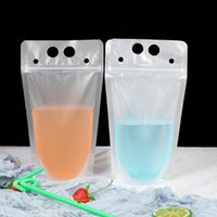 500ml Clear Beverage Bag Plastic Drink Packaging Bags Pouch ...