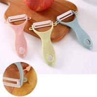 3 colores vegetal creativo dual de frutas pelador Juliana Peeler cortador Gadgets de cocina agudo del acero inoxidable de la patata zanahoria rallador