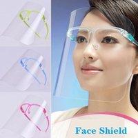 Face en plastique Shields avec verre de sécurité Porte d'huile Splash Housse de protection du visage en verre transparent visage Masque Outils de masque Visor réutilisable visage