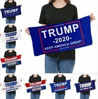 Havlu Mikrofiber Trump Yüz Havlusu Amerikan Seçim bandanas Hızlı Kuru Emici Spor Eşarp Amerika Büyük Yine Havlu ALSK340 yazdır olun
