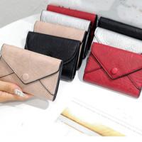 Женские кошельки мини-кошельки кассовые складные сумки карт пакет кожаный кошелек многоцветный расслоенный держатель леди кошелек классический карман молнии с коробкой
