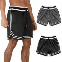 Pantalones cortos para hombres Hombres 2 en 1 Running Security Bolsets Ocio Rápido Secado Deporte Botas incorporadas Hiden Cremallera
