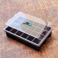 24 celle del foro del foro vassoio del seme del vassoio di plastica del vassoio di plastica con il cassetto della germinazione della pianta del giardino del coperchio Grow box