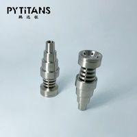 Totalmente ajustável Titanium Nails 6 em 1 ajuste para 10/14/18 milímetros Feminino e cachimbo de vidro conjunta macho 3 partes prego Domeless Titanium Carb preço de fábrica