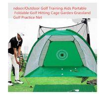 2M / 3M Крытый / Открытый гольф Учебные пособия Портативный складной гольф задерживаясь Клетка Сад Пастбища Golf Practice Net