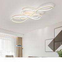 Doppia Glow luci principali moderne a soffitto per soggiorno camera da letto lamparas de techo attenuazione plafoniere lampada luce infissi camera da letto