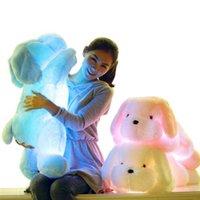 35cm Sıcak Satış Renkli Parlak oyuncak köpek LED Işık Peluş Yastık Yastık Çocuklar Oyuncak Doldurulmuş Hayvan Doll Doğum Hediye