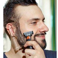 Barba Barba Plantilla Shaping bigote Ducha Forma Salon barba de afeitar del afeitado styling cepillo cuidado peine