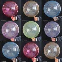 Boutique rotonda 6color palloni trasparenti Bobo Balloon palla trasparente di palloncini partito di Natale Wedding le decorazioni Kids Toy VENDITA A41002