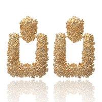Винтаж Большие серьги для женщин Заявление мотаться серьги Металл Earing Висячие Золото Серебро покрыло Геометрическая ювелирные изделия оптом