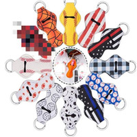 83 Colors Chapstick Holders Sports Printed Keychain Baseball...
