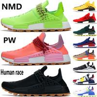 NMD Human Race biliyorum ruh sonsuz tür erkek koşu ayakkabıları Pharrell Williams asil mürekkep Oreo BBC türleri siyah kırmızı erkek kadın spor ayakkabı