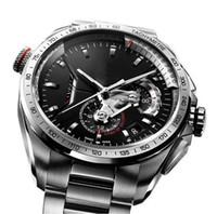 15 Art Top-Männer-Mode-Uhr-Tag Gummi mechanischer Automatik-Uhrwerk Edelstahl-Mann-Uhr-Mann-Leder-Sport-Self-Wind-Armbanduhr