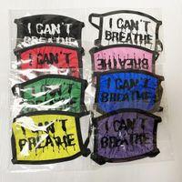 US Auf Lager I Cant Breathe Gesichtsmasken Waschbar Cotton Masken Schwarz Lives Matter Masken Modedesigner Maske für Erwachsene DHL