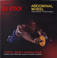 Nosotros stock, rueda muscular abdominal para hombres rollo de hogar para las mujeres de entrenamiento abdominal equipos de gimnasia abdominal de rebote automático