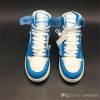 2018 New Release 1 Chicago rouge Powder Blue UNC Hommes Femmes Basketball Chaussures Blanc Baskets